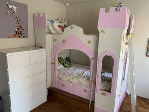 Bunk bed castle used and well-loved for Sale in Mountain View, CA