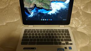 "HP 11-ae051wm 11.6"" X360 Touchscreen Chromebook - Intel Celeron N3350 1.1GHz 4GB RAM 64GB eMMC Snow White for Sale in Wylie, TX"
