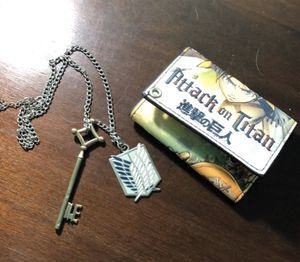 Attack On Titan wallet and necklace for Sale in Gladewater, TX