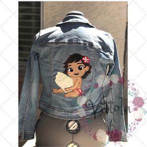 Moana Custom embroidered denim girl jacket for Sale in Las Vegas, NV