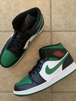 Nike Air Jordan 1 Retro Mid Green Toe Brand New for Sale in Hayward, CA