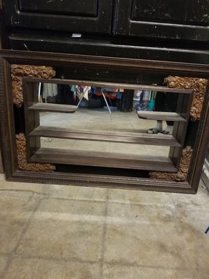 Hanging mirror with shelves vintage for Sale in Los Angeles, CA
