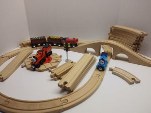 Thomas and friends wooden train and track lot for Sale in Philadelphia, PA