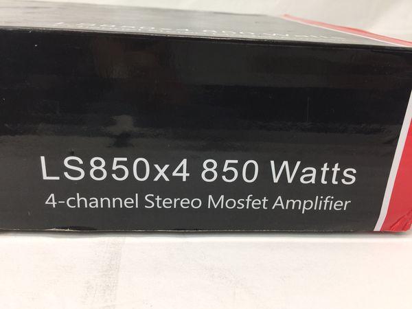 MMATS Pro Audio LS850X4 850 Watts 4-Channel Stereo Mosfet Amplifier (MXP014978)