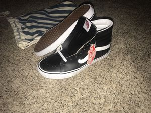 9 1/2 men's all black leather custom vans for Sale in Alexandria, VA