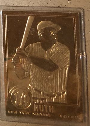 Gold Babe Ruth baseball card for Sale in Louisville, KY