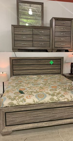 ☑ Special for Black Friday ‼ Farrow Grayish Brown Panel Bedroom Set 4-Piece Queen (QB/D/M/N) 22 for Sale in Jessup, MD