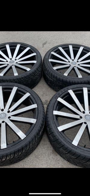 """26"""" Velocity black Rims and Tires 26 Wheels 26 Rines y llantas Chevrolet Silverado Tahoe Avalanche GMC Sierra Yukon suburban Denali Cadillac Escalade for Sale in Dallas, TX"""
