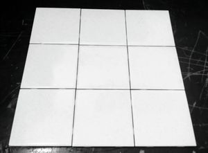 """50 pcs. (1 Box) 4.25""""in.× 4.25""""in. Daltile White with Speckled Gold Vintage Ceramic Wall Tile for Sale in Las Vegas, NV"""