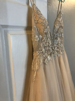 Galina Signature Sheer Beaded Bodice Organza A-Line Wedding Dress Size 8 for Sale in Sunnyvale, CA