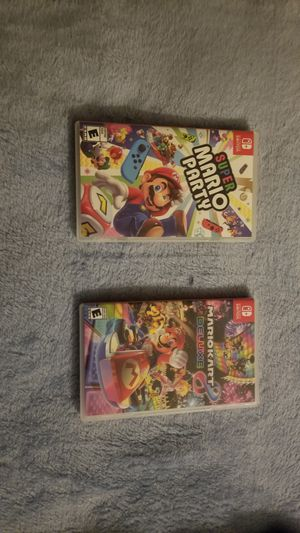 Mario Kart & Mario Party -- Nintendo switch games for Sale in St. Peters, MO