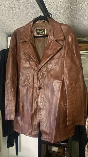 Size 42 men's leather jacket for Sale in Garden Grove, CA