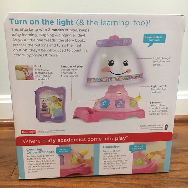 Fisher price little learning lamp for babies girls