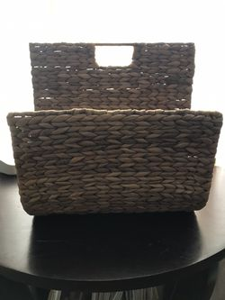 Magazine/book/towel Storage hyacinth weave for Sale in South Gate, CA