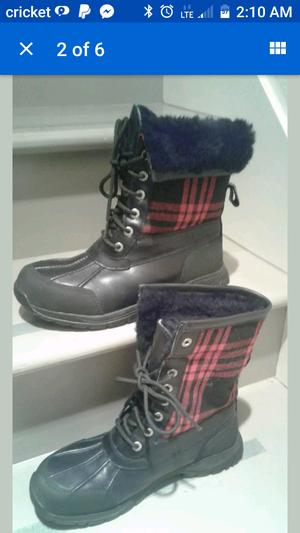 Ugg Australian Butte Wool Plaid Leather waterproof boots for Sale in Seattle, WA