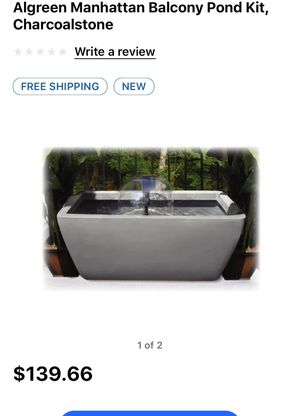 Patio pond with brand new pump, fountain heads, and LED spotlight for Sale in Glen Burnie, MD