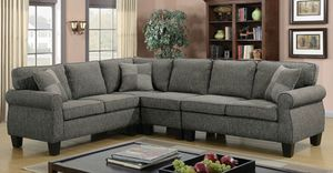 Grey fabric sofa sectional couch/Yes We Finance 😁 To Apply Today / No Credit Needed - Order Today! for Sale in Downey, CA