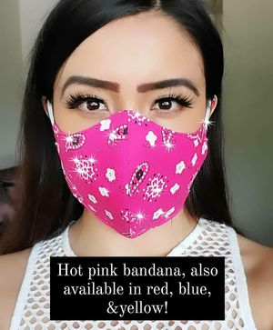 Pink Bandana Facemasks for Sale in Pasadena, CA