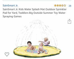 SainSmart Jr. Kids Water Splash Mat Outdoor Sprinkler Pad for Yard, Toddlers Big Outside Summer Toy Water Spraying Games for Sale in Margate, FL