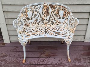 Vintage Wrought Iron Bench circa 1890's for Sale in Kirkland, WA