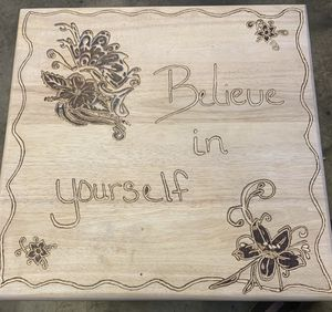 Engraved and burned End Table for Sale in Bend, OR
