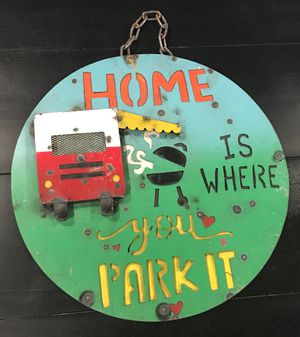 "15"" Metal Sighn Camper RV Shop Man Cave Home Decor Bar Sign $35 Firm no offers for Sale in San Fernando, CA"