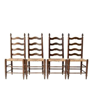Vintage antique rush chairs set of 4 light color similar to picture for Sale in Leeds, AL