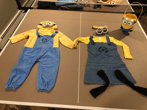 2T/3T and 4T/5T minion costume for Sale in Middleton, MA
