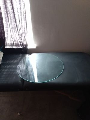 Dining & Living Room Table and chairs... 🍷 Racks included..extra glass table top... New Massage Therapist Table for Sale in Virginia Beach, VA
