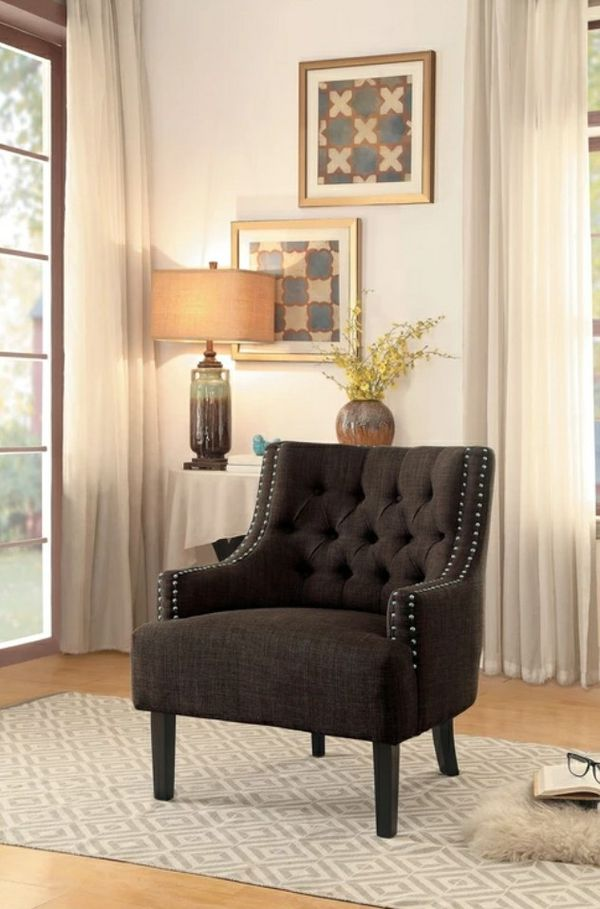 🌲Homelegance Charisma Chocolate Accent Chair