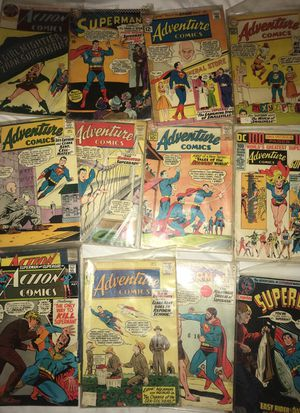 Collection of vintage Superman, adventure comics, action comics from the 60s all original for Sale in Rockville, MD