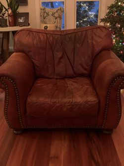 Leather Sofa, Large Chair And Ottoman Set for Sale in Pittsburgh,  PA