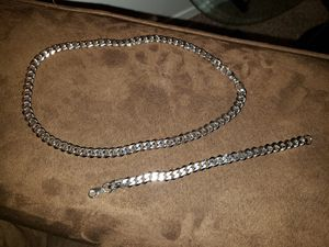 Silver chain & Bracelet for Sale in Denver, CO
