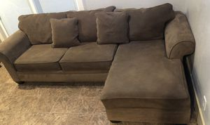 Living spaces brown sectional sofa for Sale in San Jose, CA