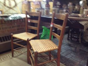 Antique ladder back chairs for Sale in Columbus, OH