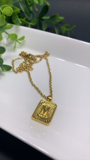 Gold Plating M Initial Letter Pendant Necklaces for Sale in Los Angeles, CA