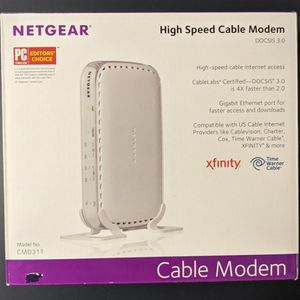 Netgear High Speed Cable Modem - Never Used - Open Box for Sale in McCook, IL