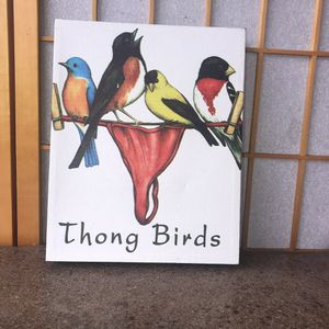 Thong Birds humor canvas picture for Sale in Naches, WA