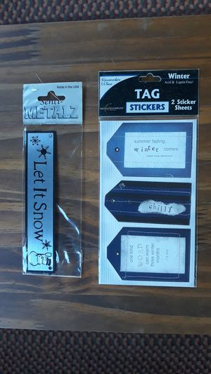 Winter paper card art scrapbooking tags for Sale in Due West, SC