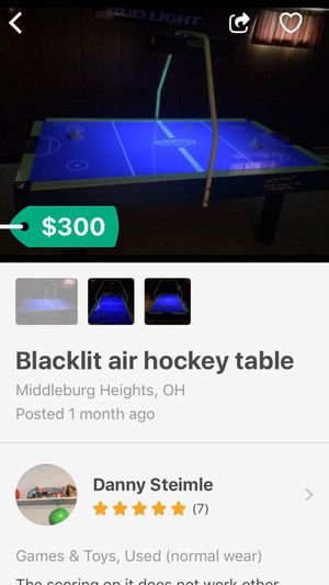 Blacklit air hockey table for Sale in Cleveland, OH