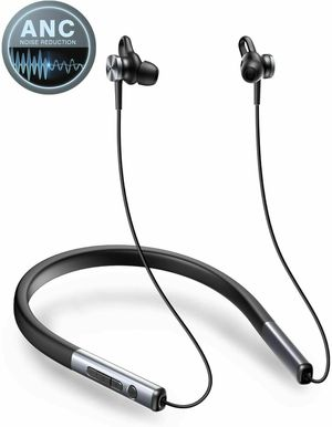 VOGEK Active Noise Cancelling Headphones, Bluetooth 5.0 Wireless Earbuds Neckban for Sale in Los Angeles, CA