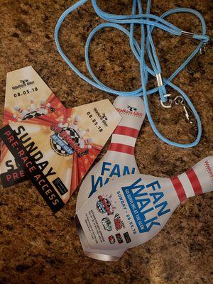 Watkins glen pit pass and fan walk tickets for Sale in Watkins Glen, NY
