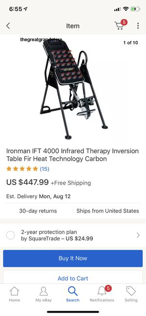 Ironman IFT Infrared Therapy Inversion Table Fir Heat Technology for Sale in Queens, NY