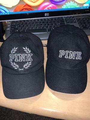 2 Pink hat nice n clean disinfected black for Sale in Elk Grove, CA