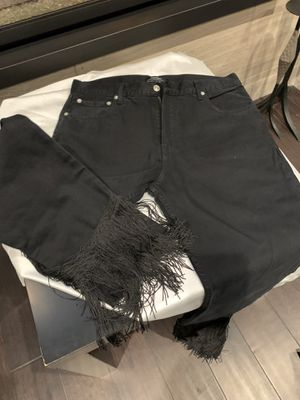 Zara Black Denim with fringes size 5/6 for Sale in Chicago, IL