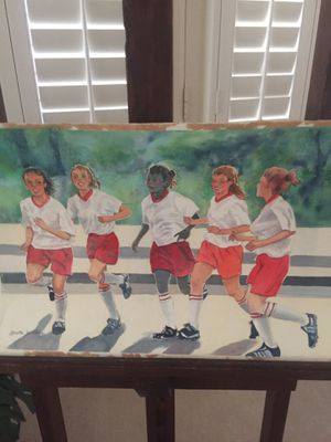 """Soccer Team"" original watercolor painting for Sale in Oxnard, CA"