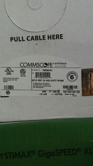 1000ft Cat6 white cable for Sale in Lithia Springs, GA