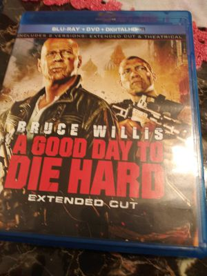 Blu ray + DvD + Digital HD. Agood day to Die hard for Sale in Tustin, CA