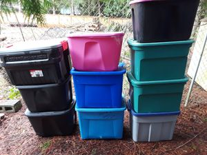 10 assorted size storage containers for Sale in Bonney Lake, WA