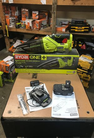 RYOBI 18-Volt ONE+ Lithium-Ion Cordless EVERCHARGE Hand Vacuum Kit with 1.3 Ah Compact Battery and Wall Adaptor/Charger for Sale in Fontana, CA